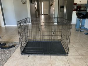 Large double door collapsible dog crate for Sale in Queen Creek, AZ