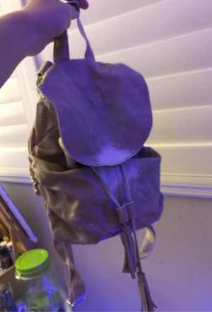 Leather tan mini backpack for Sale in Henderson, NV