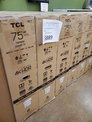 """TCL 75"""" 4K UHD Roku TV for Sale in Pasadena, CA"""