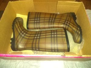 Authentic Burberry Rain Boots NEVER WORE! for Sale in Oklahoma City, OK
