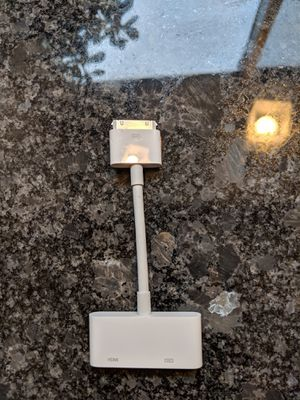 Original Apple iPad iPhone iPod Video Adapter for Sale in Plymouth, MI