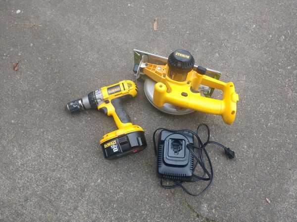 Skill saw and drill Motor new battery and charger