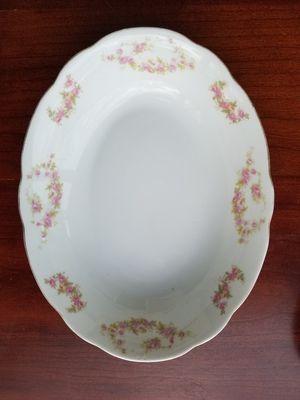 Vintage Antique Deep & 2 flat fine China, Japane Pocelain large Oval Vegetables Serving platter for Sale in Columbus, OH