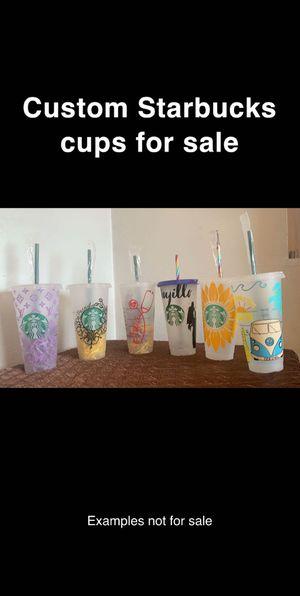 Custome Starbucks cups for sale for Sale in Prosser, WA