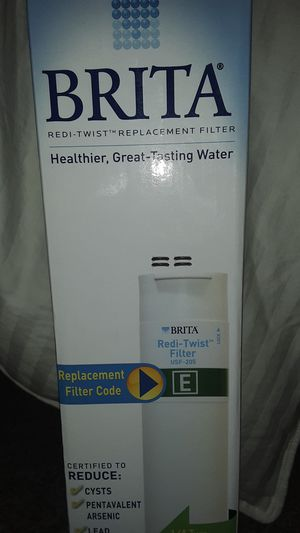 BRITA Water Filter sells for78.50,@H'D .REDI TWIST REPLACEMENT FILTER. USF-205 code E for Sale in Littleton, CO