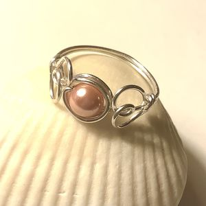 Sterling Silver Heart Ring With Pink Swarovski Pearl for Sale in Wolcott, CT