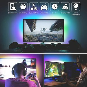 🚥🚥NEW 5M/16FEET USB POWDERED RGB LED STRIP. APP CONTROL. BAR/ GAME ROOM/ MAN CAVE/ TV BACKLIGHT/ COMPUTER/ MIRRORS/ UNDER BED/ CLOSET LIGHT🚥🚥 for Sale in Ontario, CA
