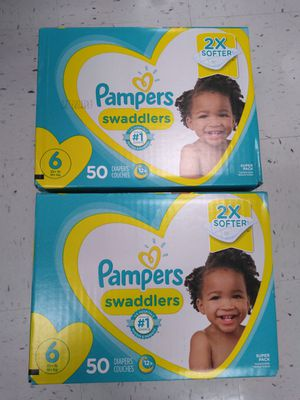 Two boxes of Pampers size 6 for Sale in Philadelphia, PA