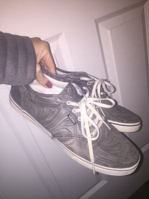 Marble Grey and White Vans, Women's Size 11 for Sale in Winchester, VA