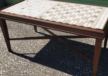 Mid Century Modern Game Table Coffee Table Mosaic Table Top for Sale in Kissimmee,  FL