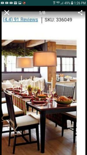 Crate and barrel dining table kitchen table with 3 extensions save over $1100 seats 6-12 for Sale in Tracy, CA