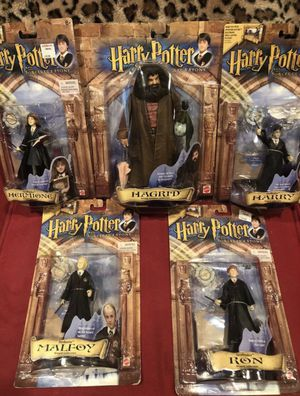 "2001 HARRY POTTER, HERMIONE, RON, MALFOY & HAGRID "" COLLECTION 5 Action FIGURES Mattel for Sale in Los Angeles, CA"