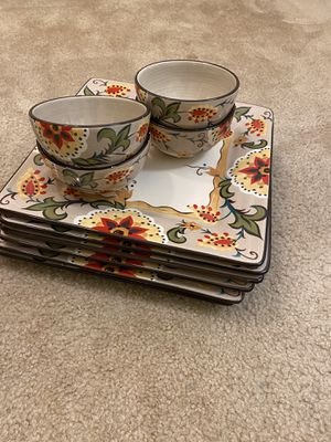 Plates and dishes set for Sale in Pelham, NH
