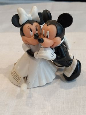 Vintage Disney Mickey Mouse & Minnie Mouse Bride Groom Wedding Dance Wind Up for Sale in Boynton Beach, FL
