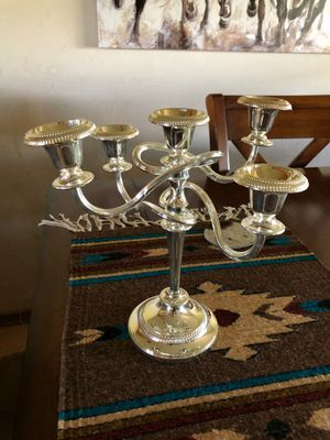Vintage Spiral Candelabra Candle Holder 5 Light EP Zinc England for Sale in Austin, TX