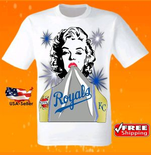 Kansas City Royals White T-Shirt Cool MLB Uniform Jersey Tee Baseball New for Sale in Hollywood, FL
