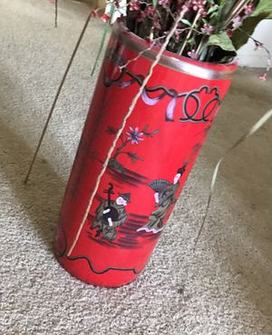 Ceramic Vase and Fake Plant for Sale in Willowbrook, IL