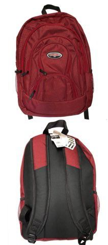 Brand NEW! Burgundy Regular Size Backpack For School/Traveling/Work/Everyday Use/Biking/Hiking/Camping/Gym $14 for Sale in West Carson, CA