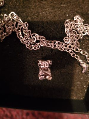 New Silver Plated Elephant Necklace small for Sale in Memphis, TN