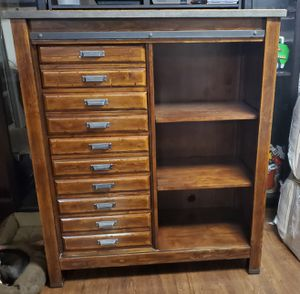 Tall 5 drawer dresser with 3 shelves & 2 night stands for Sale in Tacoma, WA