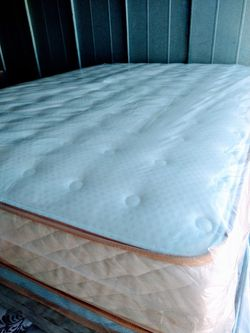 Queen Set Mattress Regular One Sided Orthopedic Brand New With Box Spring for Sale in Fontana, CA