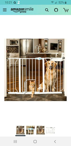 Pet Gate & Plastic Dog Crate for Sale in Lawrenceville, GA