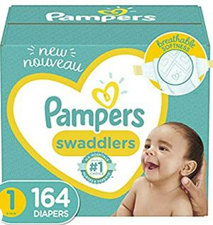Baby pampers size 1 dipers 164 for Sale in Everett, WA