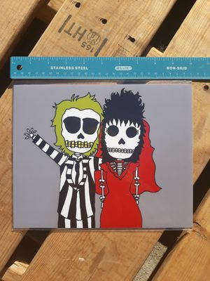 "Beetlejuice & Lydia Deets Day of the Dead 8""x10"" Print for Sale in Los Angeles, CA"