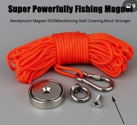 Fishing Magnet 🧲 Powerful!600lbs. Of Force! w/ Rope Brand New $40 obo [ Great 4 Lakes And Rivers] for Sale in Fresno,  CA