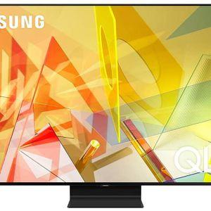 SAMSUNG 75-inch Class QLED Q90T Series - 4K UHD Direct Full Array 16X Quantum HDR 16X Smart TV with Alexa Built-in (QN75Q90TAFXZA, 2020 Model) for Sale in Tustin, CA