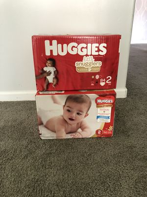2 boxes of size 2 Huggies for Sale in Southfield, MI