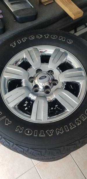 F-150 Lariat original tires with 18 inch chrome rims for Sale in Orlando, FL