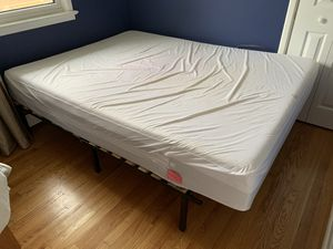 Queen Mattress with bed frame for Sale in Trenton, NJ