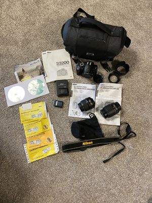 Nikon D3200 Bundle AND accessories (willing to sell separately) for Sale in Kaneohe, HI