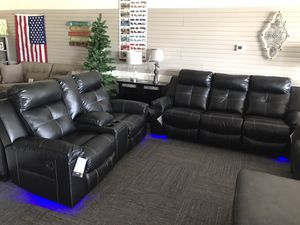 🔥LED 🧿 All Brand New Ashley Reclining Sofa & Loveseat with LED. 💥free delivery💥 for Sale in Norfolk, VA