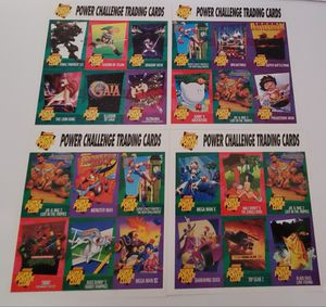 Lot of 24 Power Challenge Trading Cards 1985-1994 for Sale in St. Petersburg, FL