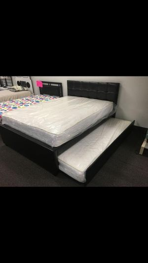 Full over Twin Bed with Mattresses for Sale in Fontana, CA