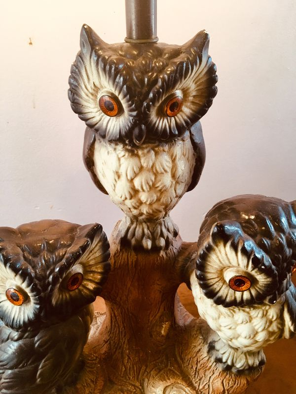 Mid Century Owl table lamp