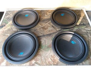 """4 brand new 10"""" Alpine sub woofers in custom box for Sale in Northwood, OH"""