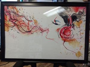Framed colorful art for music lover for Sale in Cary, NC