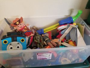 Big box of small toys. Asking for donations . Make an offer for Sale in Montclair, CA