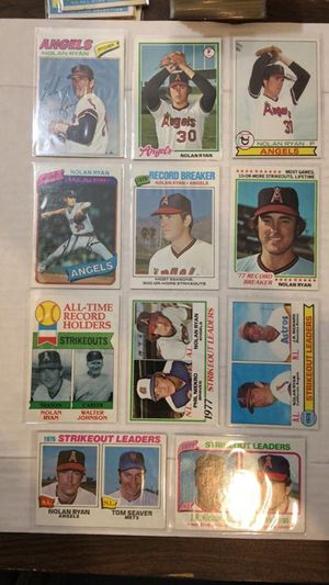 Vintage Nolan Ryan Baseball Cards for Sale in Bothell, WA
