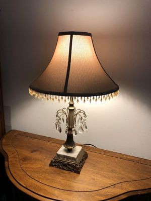 Brass lamp & crystal & marble for Sale in Wilmette, IL