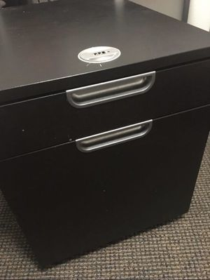 End table with two drawers, locker on the top and wheels on the bottom for Sale in Los Angeles, CA