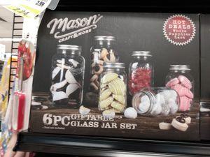 Mason 6 piece glass jar set for Sale in Mesa, AZ