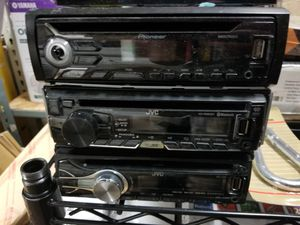 D Car Stereo Pioneer JVC untested selling as is USB AUX AM FM Receiver for Sale in Garden Grove, CA