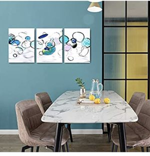 Wall Art for Living Room Bedroom Wall Decor for Bedroom Abstract Canvas Wall Art Bubbles Canvas Prints 12x16x3 Framed Wall Art Easy to Hang Wall Deco for Sale in Edison, NJ