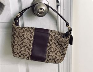 Authentic COACH purse - purple and brown for Sale in Baltimore, MD