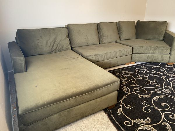 Green couch!! Worth $3200 on sale