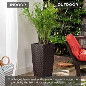 Self-Watering Wicker Planter For Indoor/Outdoor Decoration for Sale in Addison, TX